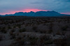 Sunset over Chisos from La Noria