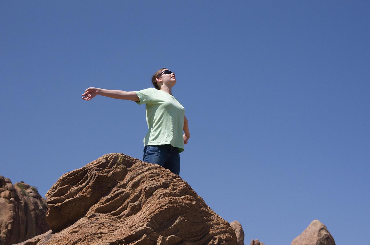 Abigail near Balanced Rock