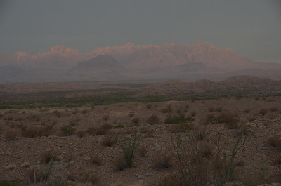 Chisos Mountains from La Noria at sunrise