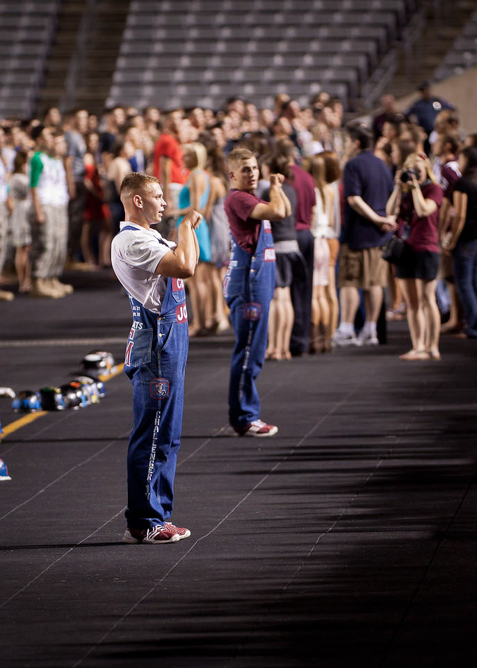 Midnight Yell Practice before the A&M / Idaho game.