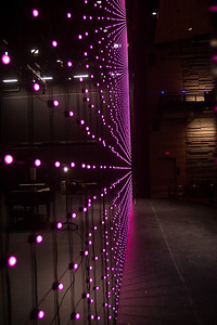 LED Curtain in Pink!