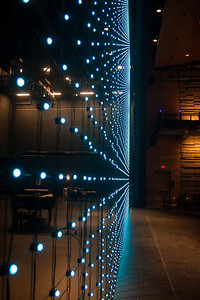 LED Curtain in Blue