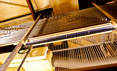 Some of the inner workings of the pipe organ.