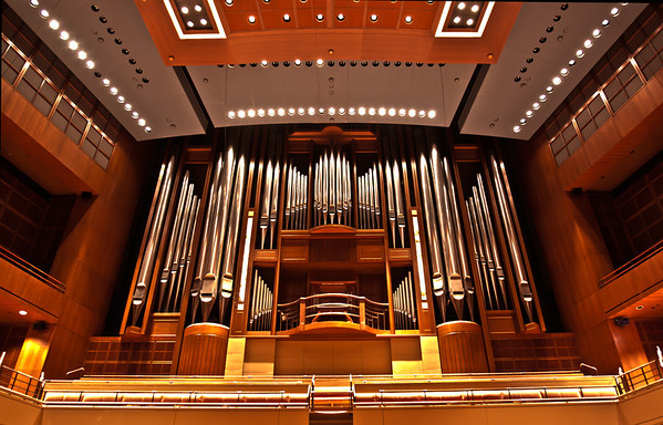 The Meyerson Concert Hall's Pipe Organ.