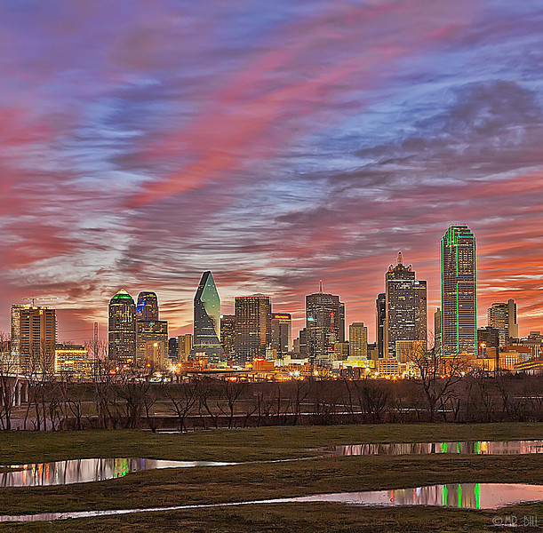 Downtown Dallas at sunrise