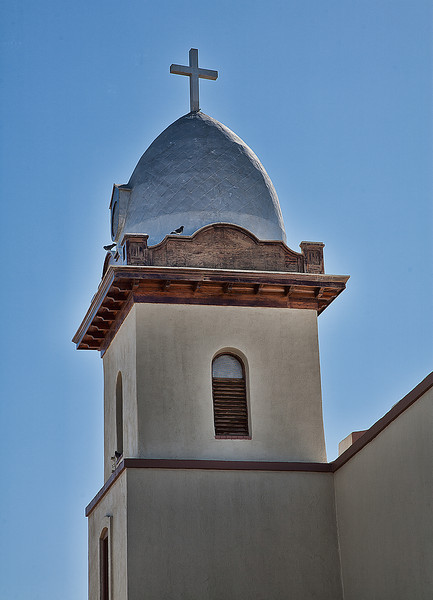 Tower of the Ysleta Mission on the El Paso Mission Trail