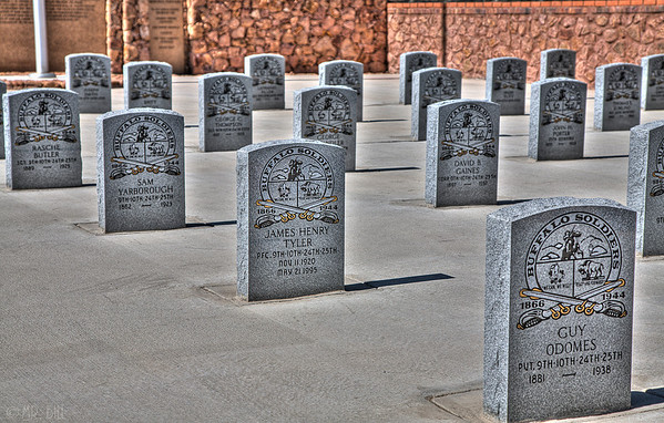 Buffalo Soldiers memorial inside the Concordia Cemetery in El Paso, TX