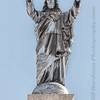 Statue atop of Sacred Heart Church in El Paso, TX