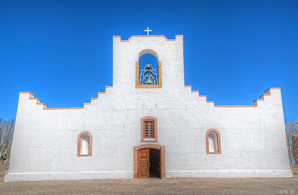 Socorro Mission on the El Paso Mission Trail in El Paso, TX
