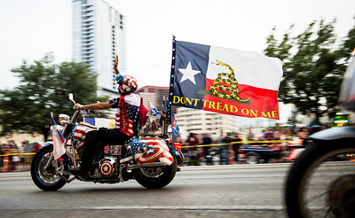 Republic of Texas Biker Rally - Parade - June 2013 - Austin - Texas - USA