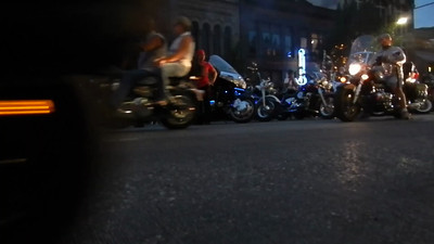 Short video clip of the bikes rolling down Congress Street - Republic of Texas Biker Rally - Parade - June 2013 - Austin - Texas - USA