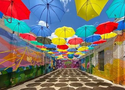 Umbrella Alley in Baytown, Texas