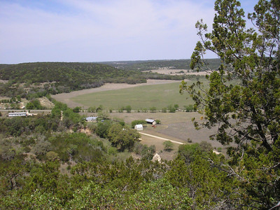 Here we are up on the hill overlooking the house and RV sites and the fields of the Ranch.  We are still on the ranch property.