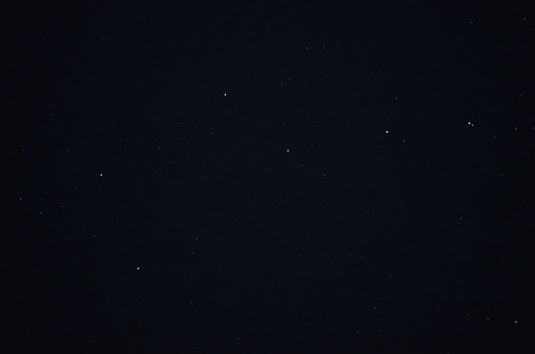 We can see the stars and constellations on clear nights, here is part of the Big Dipper..
