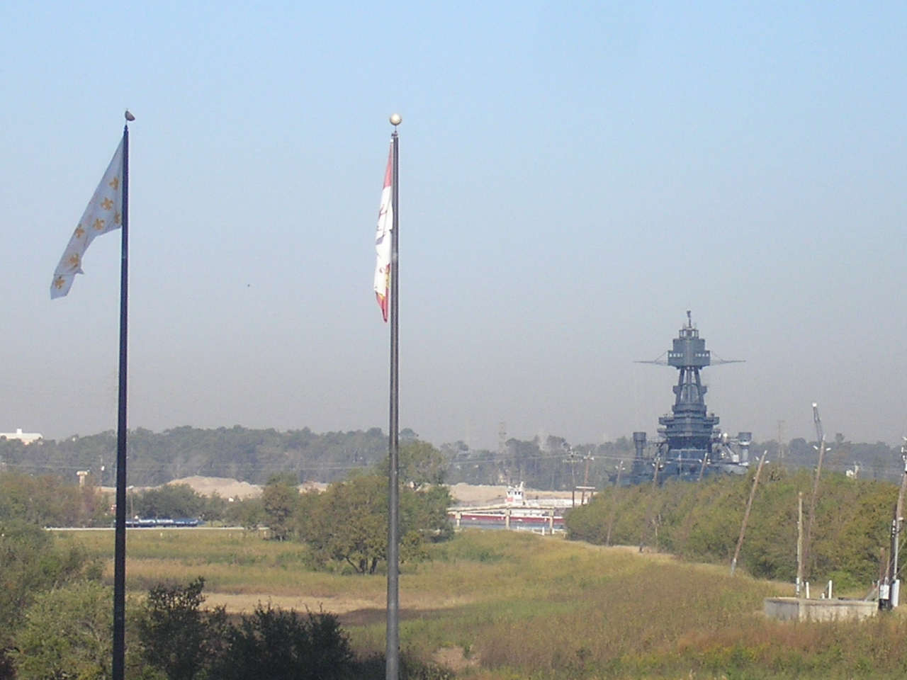 This view of the Texas is from the steps of the Monument