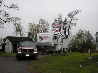 This is our camp site on the Houston Ship Channel