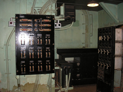 Electronic equipment in the fire control room