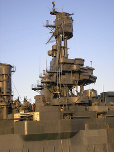 Fore mast of the Battleship Texas, the Battle Bridge, Main Bridge and the Fire Direction control are on the Mast.