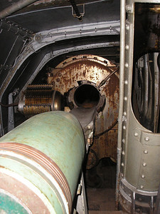 """1500 lb shell being loaded into 14"""" Gun"""