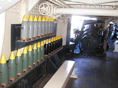 "5"" shells that go into the 5"" guns"