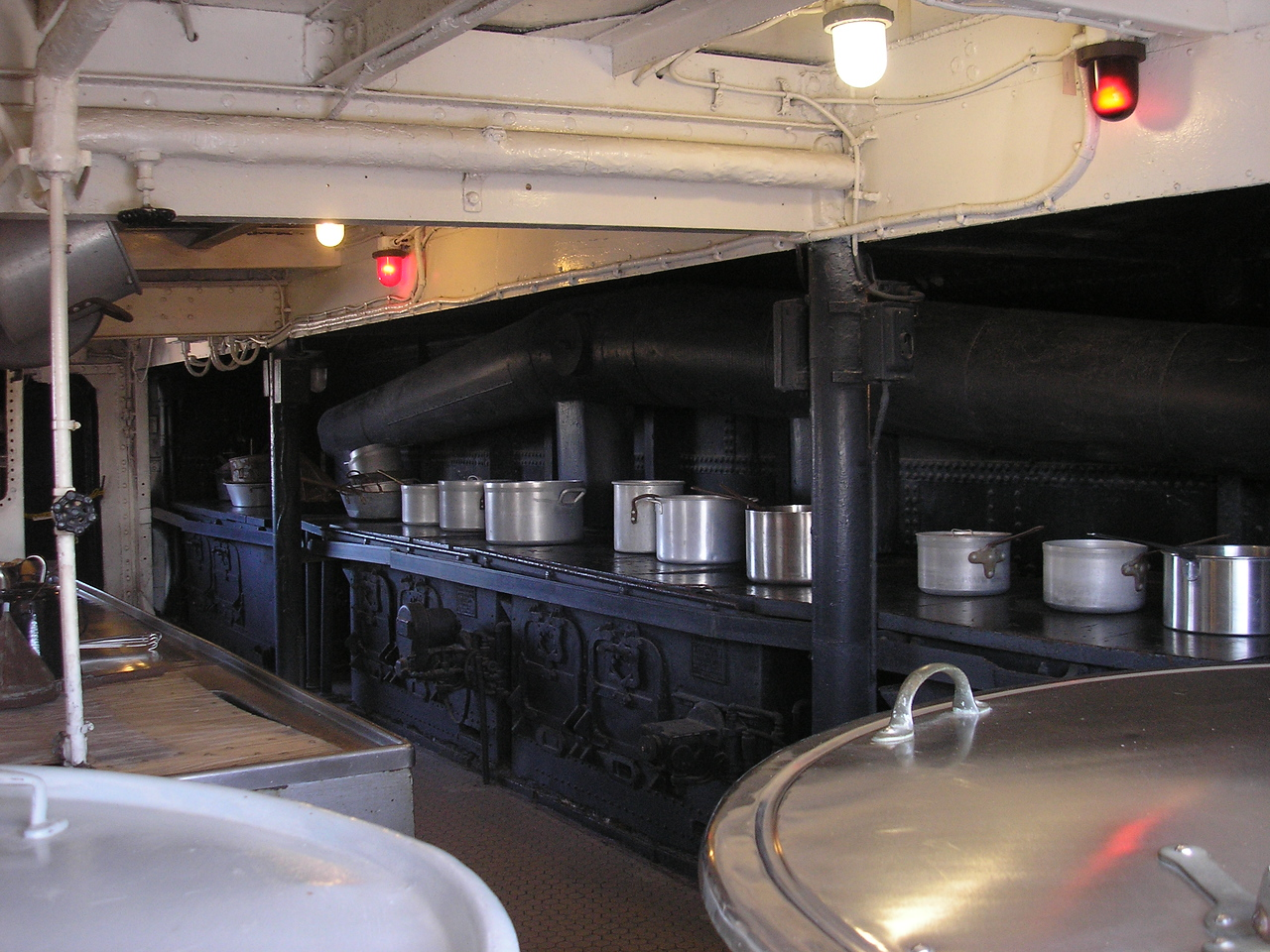Galley on the main deck