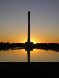 Clear sunrise at the San Jacinto Monument, site of Texas Independence