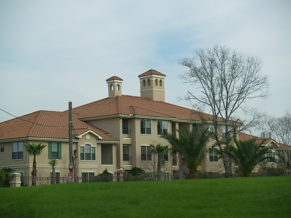 Mansion seen from car