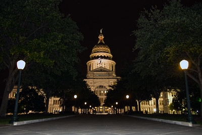 Capitol Building at Night - Austin - Texas - USA