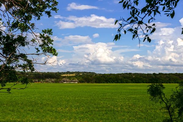 Fields of Green near Lampasas Texas