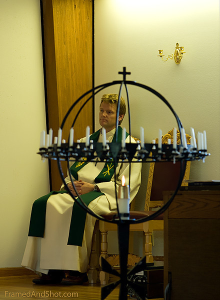 <strong><center>The Priest in Peace</strong></center>   Captured in the Norwegian Seamen Church in Houston.