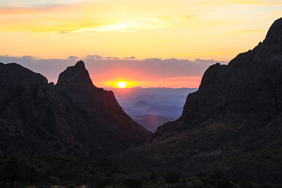 Sunset Through Window - Big Bend National Park