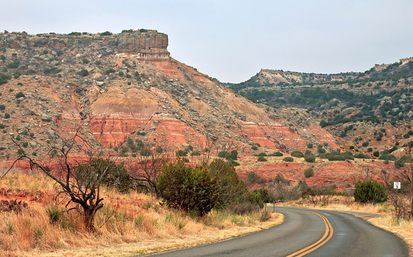 Driving in Palo Duro State Park