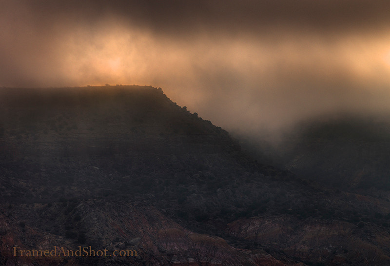 <strong><Center>Morning Glory</strong></center> From the Palo Duro Canyon, The Grand Canyon of Texas.  Sometimes it is hard to get up early enough to see the sun rise, but as we all know – the light, the light is so much better ….