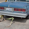 <h4>You know you're in Texas when.....<br> you have corn stalks stuck to your rear fender. We thought this was amusing, a beat up old car having driven across the fields to get to the local hang-out…..