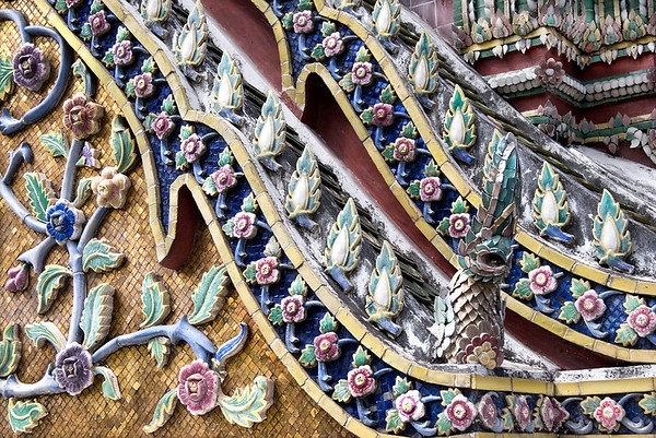 A decorative wall, The Grand Palace, Bangkok