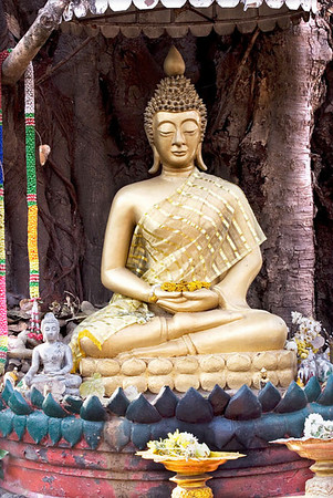 Buddha at Waing Kum Kam in hand gesture of meditation