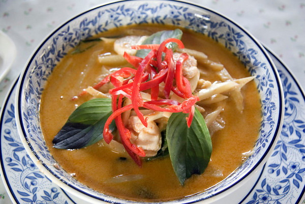 Red Curry with Chicken and Bamboo Shoot