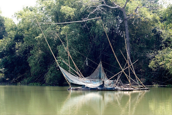 Fishing raft, Sakae Krang River