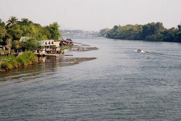 View of the River Kwai from the bridge