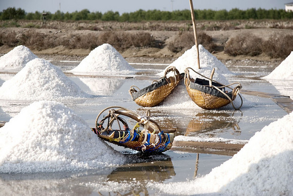 Baskets used to carry the salt