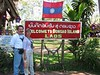 We only spent an hour on a small Laotian island, but technically we were there and could add another country to our growing list.