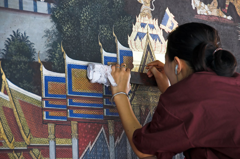 Krung Thep Grand Palace - Bangkok<br /> Restoration taking place