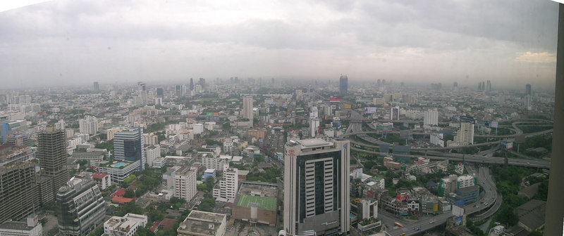 Bangkok as viewed from our Baiyoke Sky Hotel room, about halfway up the building.