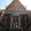 Statue of Cheewaka Komarapach, the hermit who is the father of Thai herbal medicine
