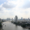 Chao Praya river. View from the Sheraton Towers lounge.