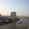 Chao Praya river. View from room