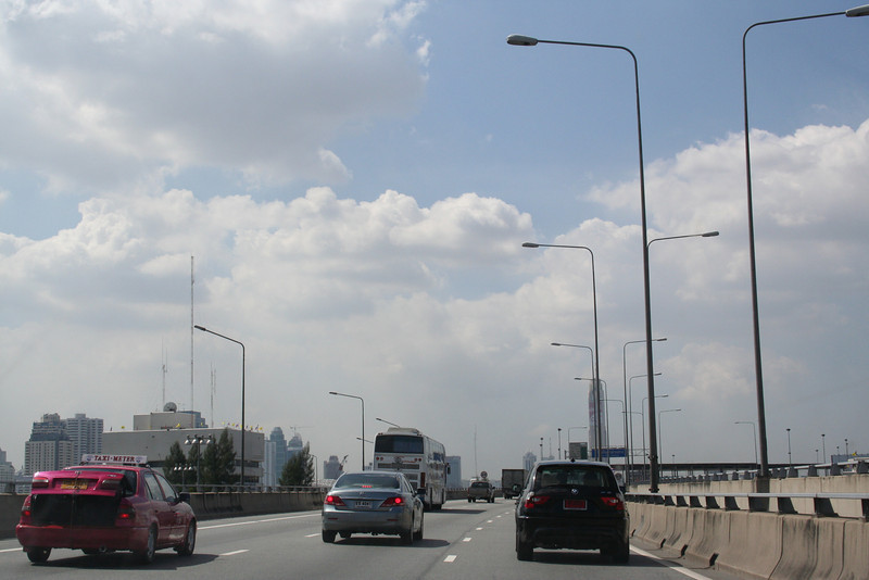 Bangkok Highway. On the way from airport