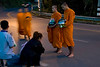 We got up early one moring in Chang Mai to watch the alms giving ceremony that takes place every morning for the Buddist monks.  This is how they get most of their food and it is normally the students and novices who have the duty to collect.
