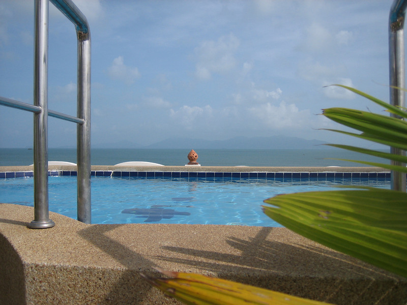 Rooftop swimming pool at L'Hacienda