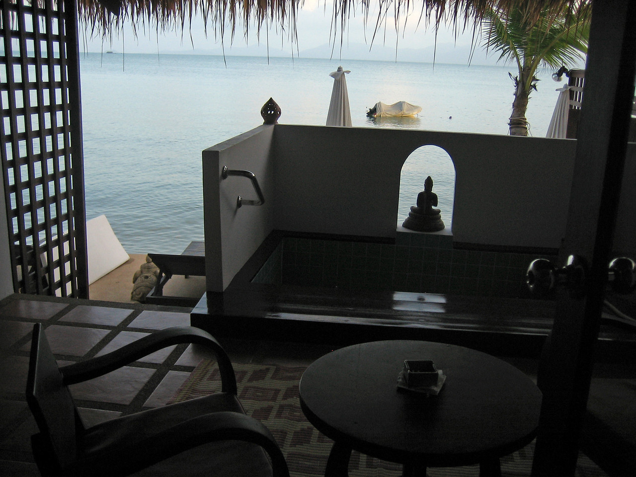 Our lovely patio by the Gulf of Thailand